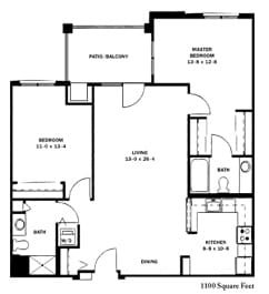 Two Bedroom Traditional