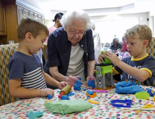 Social hour at Beaumont Commons, Dearborn bonds preschoolers and seniors